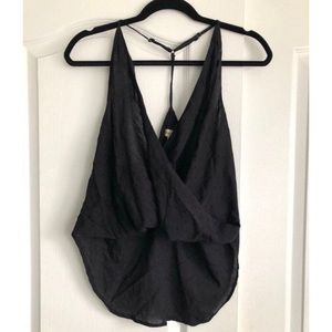 Urban Outfitters Black Wrap Tank Top